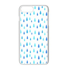Water Rain Blue Apple Iphone 7 Plus White Seamless Case by Alisyart
