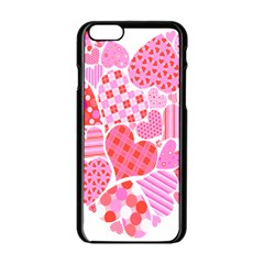 Valentines Day Pink Heart Love Apple Iphone 6/6s Black Enamel Case by Alisyart
