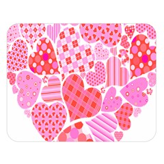 Valentines Day Pink Heart Love Double Sided Flano Blanket (large)  by Alisyart