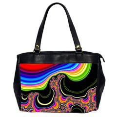 Wave Color Office Handbags (2 Sides)  by Alisyart