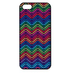 Wave Chevron Rainbow Color Apple Iphone 5 Seamless Case (black) by Alisyart
