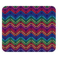 Wave Chevron Rainbow Color Double Sided Flano Blanket (small)  by Alisyart