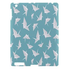 Origamim Paper Bird Blue Fly Apple Ipad 3/4 Hardshell Case by Alisyart