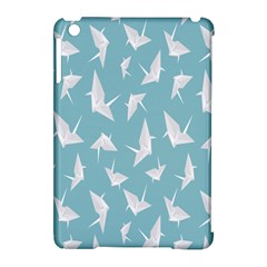 Origamim Paper Bird Blue Fly Apple Ipad Mini Hardshell Case (compatible With Smart Cover) by Alisyart