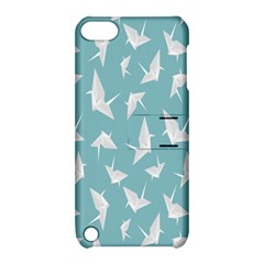Origamim Paper Bird Blue Fly Apple Ipod Touch 5 Hardshell Case With Stand by Alisyart