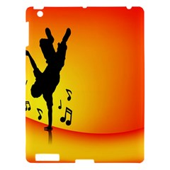 Breakdancer Dancing Orange Apple Ipad 3/4 Hardshell Case by Alisyart