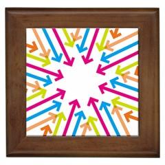 Arrows Pink Blue Orange Green Framed Tiles