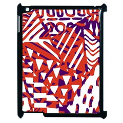 Bright  Memphis Purple Triangle Apple Ipad 2 Case (black) by Alisyart