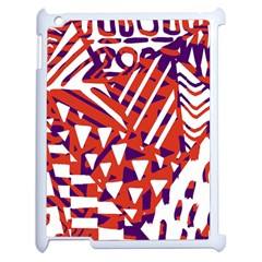Bright  Memphis Purple Triangle Apple Ipad 2 Case (white) by Alisyart