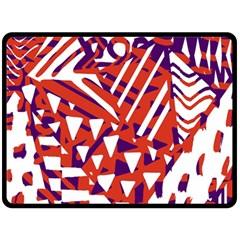 Bright  Memphis Purple Triangle Double Sided Fleece Blanket (Large)  by Alisyart