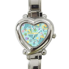 Baby Stroller Star Blue Heart Italian Charm Watch by Alisyart