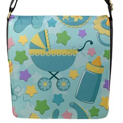 Baby Stroller Star Blue Flap Messenger Bag (s) by Alisyart