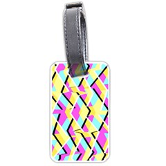 Bright Zig Zag Scribble Yellow Pink Luggage Tags (two Sides) by Alisyart