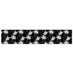 Butterfly Black Flano Scarf (small) by Alisyart