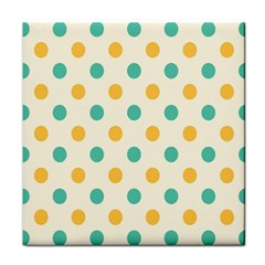 Circle Blue Orange Tile Coasters by Alisyart