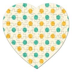 Circle Blue Orange Jigsaw Puzzle (heart) by Alisyart