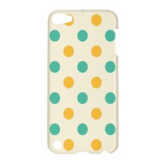 Circle Blue Orange Apple Ipod Touch 5 Hardshell Case by Alisyart