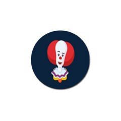 Clown Face Red Yellow Feat Mask Kids Golf Ball Marker by Alisyart