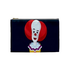 Clown Face Red Yellow Feat Mask Kids Cosmetic Bag (medium)  by Alisyart