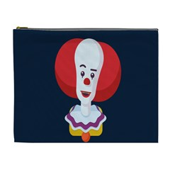 Clown Face Red Yellow Feat Mask Kids Cosmetic Bag (xl) by Alisyart