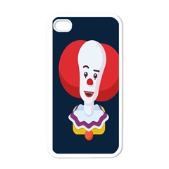 Clown Face Red Yellow Feat Mask Kids Apple Iphone 4 Case (white) by Alisyart
