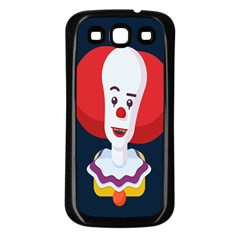 Clown Face Red Yellow Feat Mask Kids Samsung Galaxy S3 Back Case (black) by Alisyart
