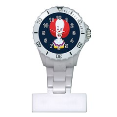 Clown Face Red Yellow Feat Mask Kids Plastic Nurses Watch by Alisyart