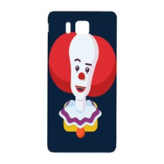Clown Face Red Yellow Feat Mask Kids Samsung Galaxy Alpha Hardshell Back Case by Alisyart