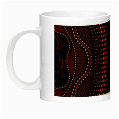 Creative Direction Illustration Graphic Gold Red Purple Circle Star Night Luminous Mugs by Alisyart