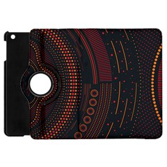 Creative Direction Illustration Graphic Gold Red Purple Circle Star Apple Ipad Mini Flip 360 Case by Alisyart