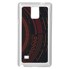 Creative Direction Illustration Graphic Gold Red Purple Circle Star Samsung Galaxy Note 4 Case (white) by Alisyart