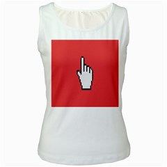 Cursor Index Finger White Red Women s White Tank Top by Alisyart