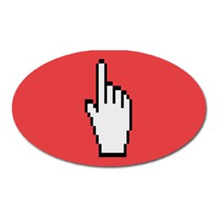 Cursor Index Finger White Red Oval Magnet by Alisyart