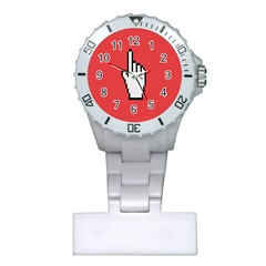 Cursor Index Finger White Red Plastic Nurses Watch by Alisyart