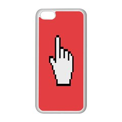 Cursor Index Finger White Red Apple Iphone 5c Seamless Case (white) by Alisyart