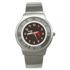 Cutthe Crab Red Brown Animals Beach Sea Stainless Steel Watch by Alisyart
