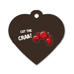 Cutthe Crab Red Brown Animals Beach Sea Dog Tag Heart (two Sides) by Alisyart