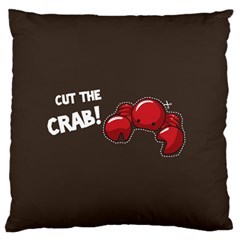 Cutthe Crab Red Brown Animals Beach Sea Large Flano Cushion Case (two Sides) by Alisyart