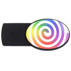 Circle Purple Blue Red Green Yellow Usb Flash Drive Oval (4 Gb) by Alisyart