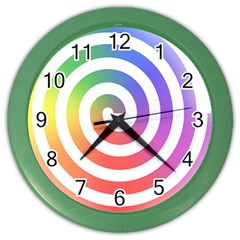 Circle Purple Blue Red Green Yellow Color Wall Clocks by Alisyart