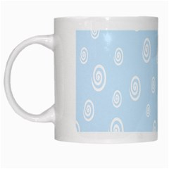 Circle Blue White White Mugs
