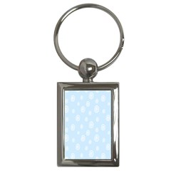 Circle Blue White Key Chains (rectangle)  by Alisyart