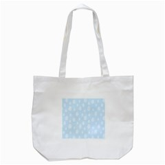 Circle Blue White Tote Bag (white) by Alisyart
