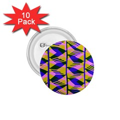 Crazy Zig Zags Blue Yellow 1 75  Buttons (10 Pack) by Alisyart