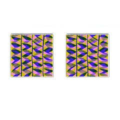 Crazy Zig Zags Blue Yellow Cufflinks (square) by Alisyart
