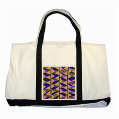 Crazy Zig Zags Blue Yellow Two Tone Tote Bag by Alisyart