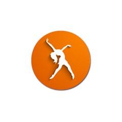 Dance Dancing Orange Girl Golf Ball Marker (4 Pack) by Alisyart