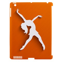 Dance Dancing Orange Girl Apple Ipad 3/4 Hardshell Case (compatible With Smart Cover) by Alisyart