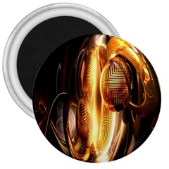 Digital Art Gold 3  Magnets by Alisyart