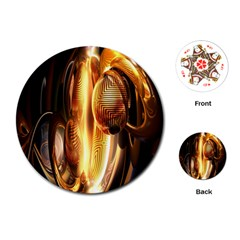 Digital Art Gold Playing Cards (round)